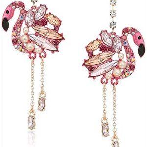 Betsey Johnson flamingo earrings